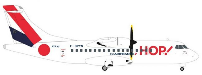 herpa 559409 ATR-42-500 Hop! for Air France Flugzeugmodell 1:200