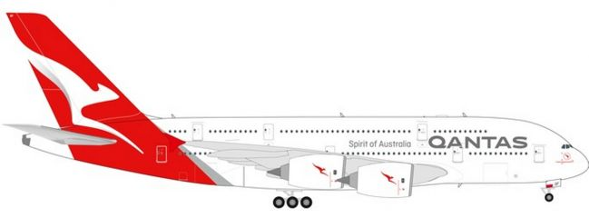 herpa 559423 Airbus A380 Qantas new colors Charles Kingsford Smith Flugzeugmodell 1:200