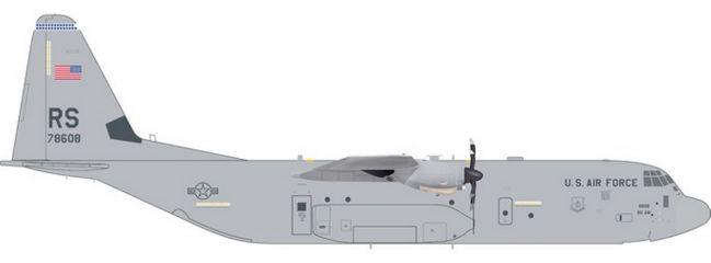 herpa 559461 Lockheed Martin C-130J US Air Force 86th AW Ramstein Air Base Flugzeugmodell 1:200
