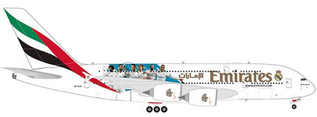 herpa 559508 Emirates Airbus A380 Real Madrid | WINGS 1:200