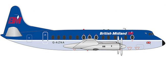 herpa 559591 British Midlands Vickers Viscount 800 | WINGS 1:200