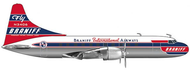herpa 559621 Braniff International Airways Convair CV-340 | WINGS 1:200
