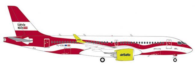 herpa 559690 A220-300 airBaltic Latvia 100 | WINGS 1:200