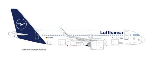 herpa 559768 Airbus A320neo Lufthansa new colors Flugzeugmodell 1:200