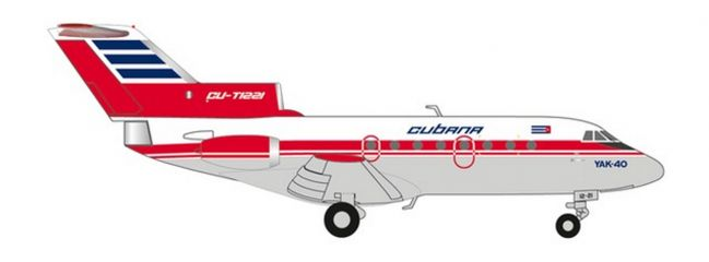 herpa 559775 Yakovlev Yak-40 Cubana de Aviacion Flugzeugmodell 1:200