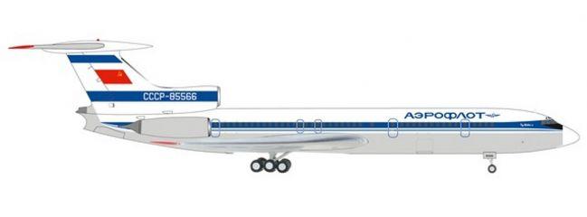 herpa 559812 Tupolev TU-154-B2 Aeroflot Blue Tail livery Flugzeugmodell 1:200