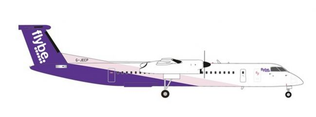 herpa 559829 Bombardier Q400 Flybe Flugzeugmodell 1:200