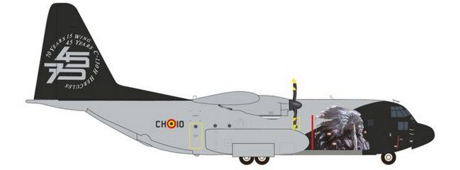 herpa 559843 Lockheed C-130H Hercules Belgian Air Component Flugzeugmodell 1:200
