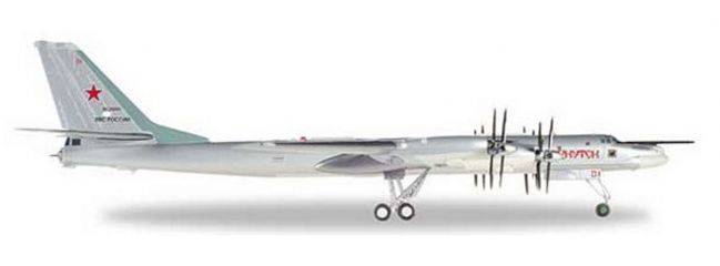 herpa 559874 Tupolev TU-95MS Russian Air Force Bear H Irkutsk Flugzeugmodell 1:200