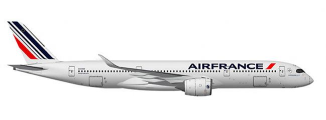 herpa 559980 Airbus A350-900 Air France Flugzeugmodell 1:200