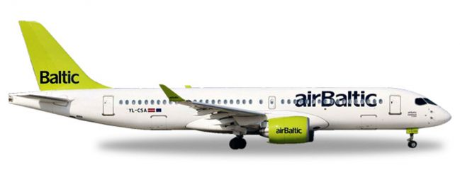 herpa WINGS 562607 Bombardier CS300 airBaltic Flugzeugmodell 1:400