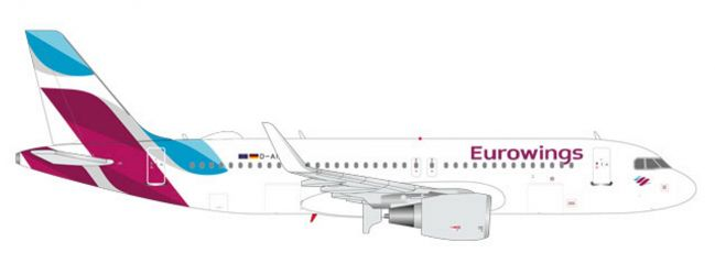 herpa 562669 Airbus A320 Eurowings Flugzeugmodell 1:400