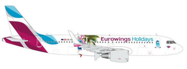 herpa 562676 Airbus A320 Eurowings Holidays Flugzeugmodell 1:400