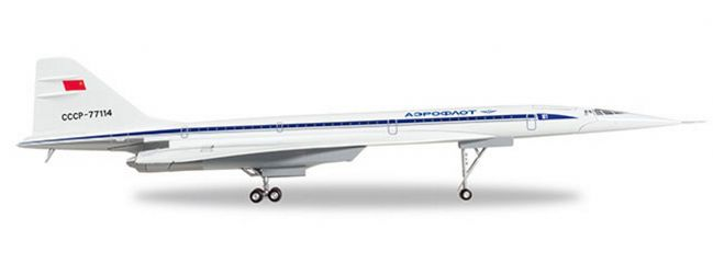 herpa 570633 Aeroflot Tupolev TU-144D-CCCP-77114 | Flugmodell 1:200