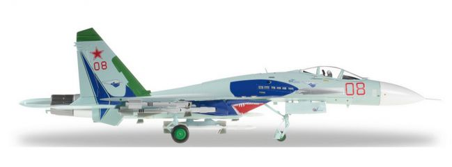 "herpa 580007 SU-27 Russian Air Force""Lipetsk Shark"" 