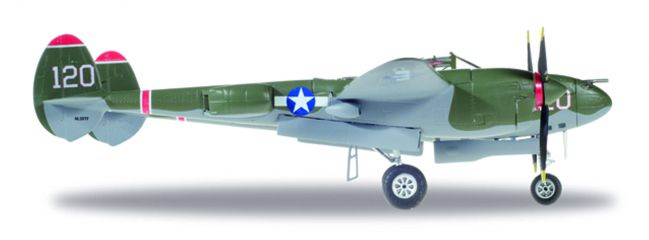 herpa 580243 Lockheed Lightning P-38L USAAF Thoughts of Midnite Flugzeugmodell 1:72