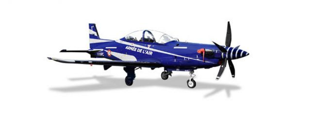 herpa 580335 Pilatus PC-21 French Air Force Cognac Chateaubernard Air Base Flugzeugmodell 1:72