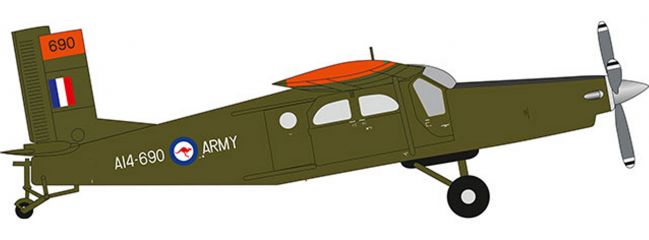 herpa 580489 Pilatus PC-6 Turbo Porter Royal Australian Army Aviation Corps Flugzeugmodell 1:72