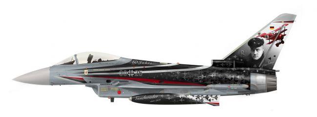 herpa 580533 Eurofighter Typhoon Luftwaffe Spirit of Richthofen Wittmundhafen Air Base 1:72