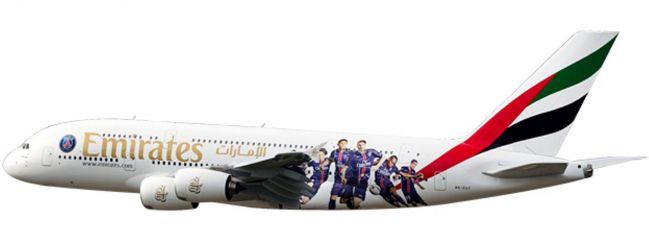 herpa 611152 A380 Emirates Paris St Germain SnapFit | WINGS 1:250