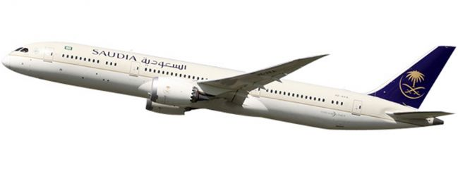 herpa 611398 B787-9 Dreamliner Saudia | Snap-Fit WINGS 1:200