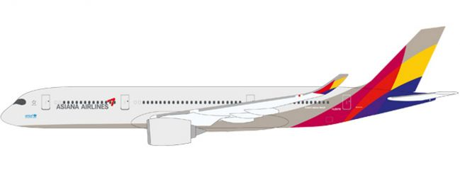 herpa 611404 A350-900 XWB Asiana | Snap-Fit WINGS 1:200