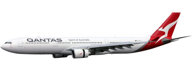 herpa 611510 Qantas Airbus A330-300 new colors | Snap-Fit WINGS 1:200