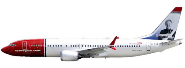 herpa 611817 Norwegian Air Shuttle Boeing 737 MAX 8 | Snap-Fit WINGS 1:200