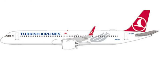 herpa 612210 Turkish Airlines A321neo | Snap-Fit WINGS 1:200