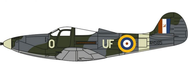 herpa OXFORD 81AC071 Bell Airacobra I 601-County of London Sqn Royal Air Force Duxford 1:72