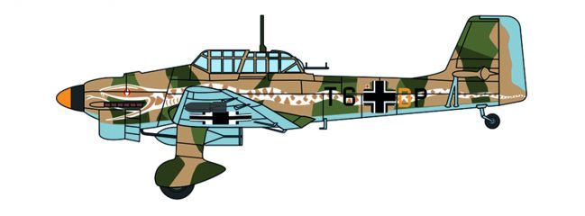 OXFORD 81AC085S Junkers Ju87 Stuka 6/StG 2 Immelmann Libya 1941 Flugzeugmodell 1:72