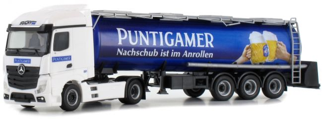 herpa 927680 MB Actros Streamspace Tank-Sz Puntigamer | LKW-Modell 1:87