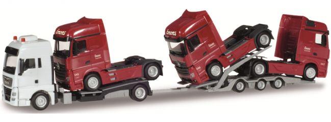 herpa 934800 MAN TGX XXL LKW-Transporter-Hängerzug Emons | LKW-Modell 1:87