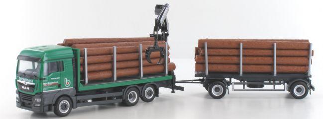 herpa 937597 MAN TGX XLX Euro 6 Holztransporter-Hängerzug | MC-Vedes | LKW-Modell 1:87