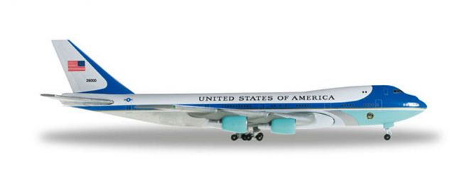 herpa 502511-002 Boeing 747-200 Air Force One VC-25-28000 Flugzeugmodell 1:500