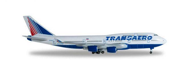 herpa 527651 Boeing 747-400 Transaero Airlines Flugzeugmodell 1/500