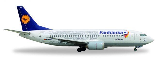 herpa 529594 Boeing B737-300 Lufthansa Fanhansa Flugzeugmodell 1:500