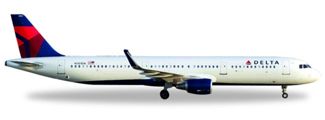herpa 529617 Airbus A321 Delta Air Lines Flugzeugmodell 1:500