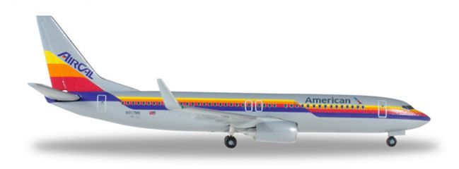 herpa 529631 Boeing 737-800 American Airlines Air Cal Heritage Livery Flugzeugmodell 1:500