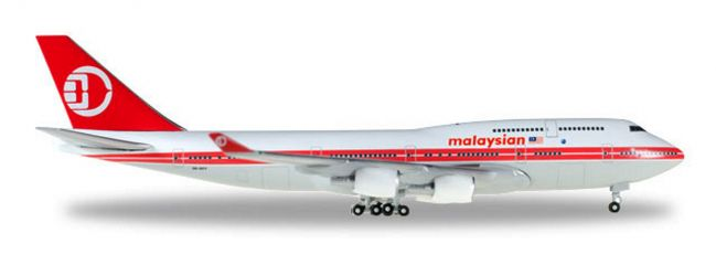 herpa 529679 Boeing 747-400 Malaysia Airlines Retro colors Flugzeugmodell 1:500