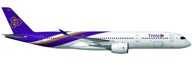 herpa 558174 Airbus A350-900XWB Thai Airways Wichian Buri Flugzeugmodell 1:200