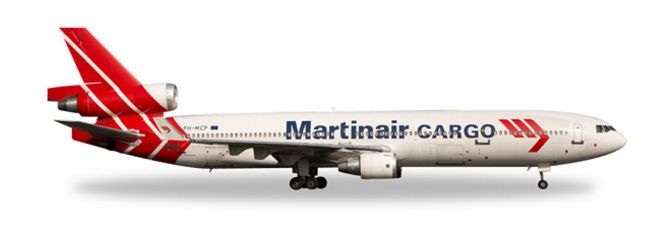 herpa 529730 McDonnell Douglas MD-11F Martinair Cargo Flugzeugmodell 1:500