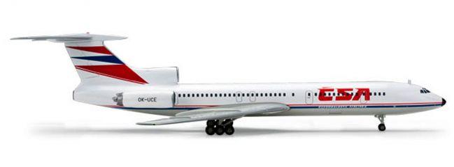 """herpa 554558 Tupolev TU-154M """"CSA"""" Flugzeugmodell 1:200"""