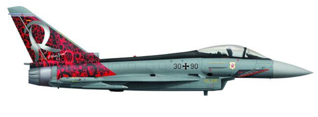 herpa 558198 Eurofighter Typhoon Luftwaffe TaktLwG71 Richthofen Flugzeugmodell 1:200