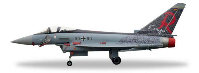 herpa 580182 Eurofighter Typhoon Luftwaffe TaktLwG71 Richthofen Flugzeugmodell 1:72