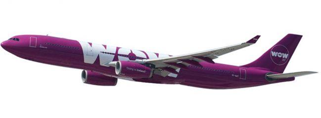 ausverkauft | herpa 611282 Airbus A330-300 Wow Air Steckbausatz 1:200