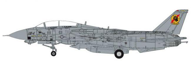herpa 82TSMWTP002 Northrop Grumman F-14A VFA-2013 TOP GUN Iceman und Slider Flugzeugmodell 1:72