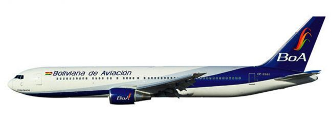 herpa 610834 Boeing 767-300 BoA Boliviana de Aviacion Flugzeugmodell 1:200