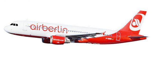 herpa 611923 Airbus A320 airberlin Last Flight | SnapFit Steckbausatz Flugzeugmodell 1:200