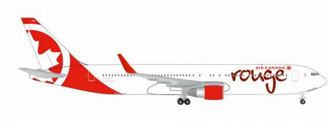herpa 524230-001 Boeing 767-300 Air Canada Rouge Flugzeugmodell 1:500